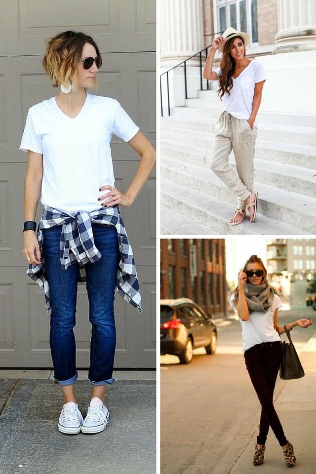 10 Ways To Wear A White Tee