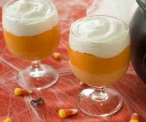 Candy Corn Pudding - SQUARE