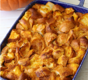 Pumpkin Bourbon Bread Pudding