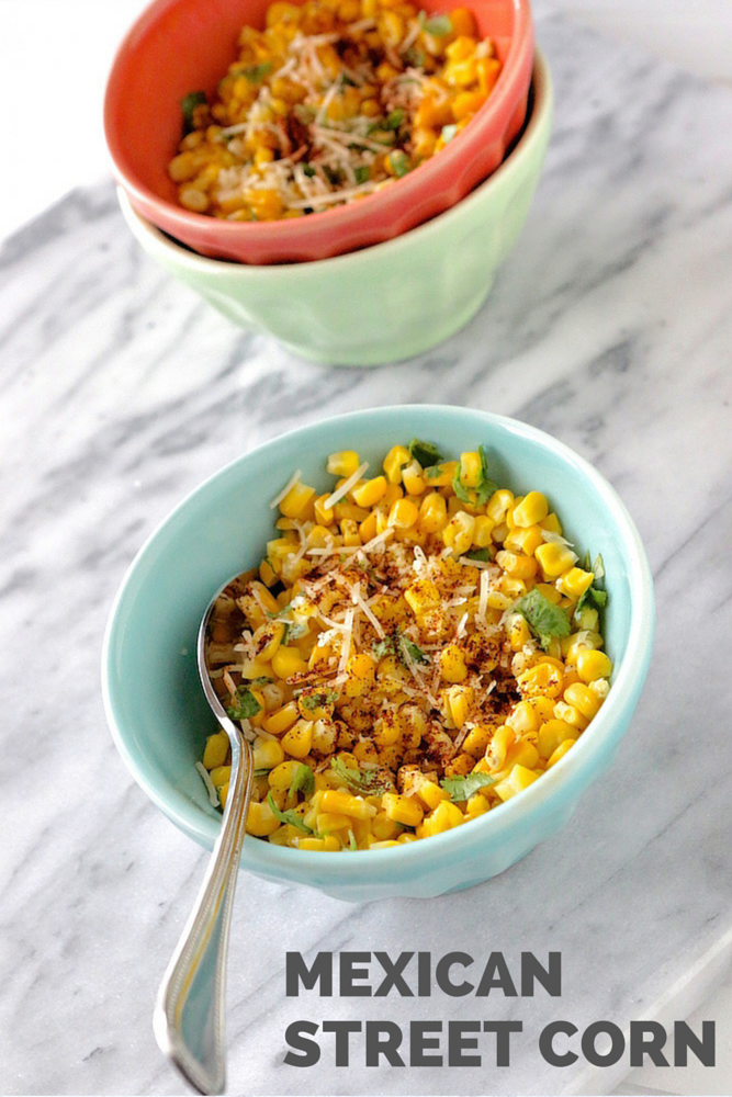 Mexican Street Corn in a Bowl - In honor of our Cinco de Mayo theme, we're back with another delicious recipe. This one is a take of Mexican street corn, but in a bowl!