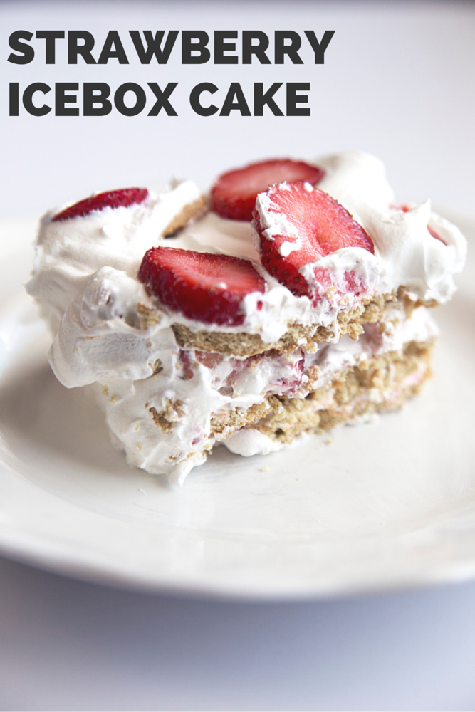 Strawberry Icebox Cake Recipe - This recipe is very similar to our popular Chocolate Eclair Cake, but with delicious ripe strawberries instead of chocolate! It's the perfect summer dessert!