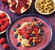 Pomegrante Berry Smoothie Bowl