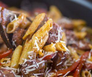 Gluten Free Skillet Sausage Pasta Recipe