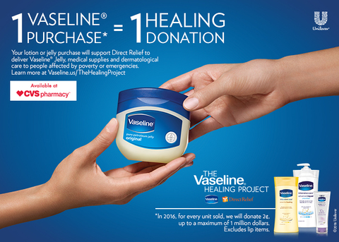 The Vaseline Healing Project [and live Facebook event]