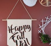 Spell it out! Greet guests and the new season with this super cute Happy Fall Y'all DIY banner!