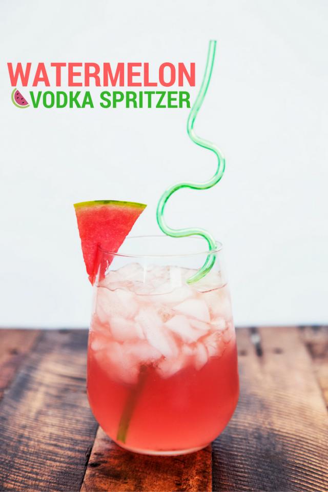 Watermelon Vodka Spritzer Drink Recipe