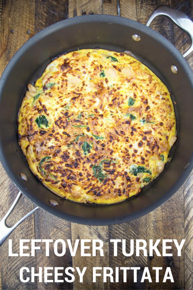 Cheesy Leftover Turkey Frittata Recipe
