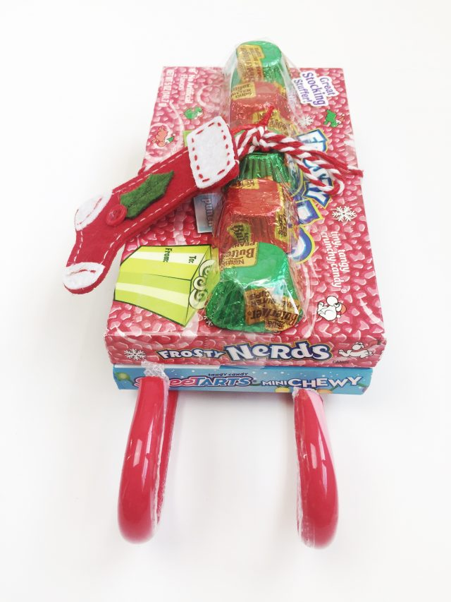 Holiday Candy Sled Stocking Stuffers