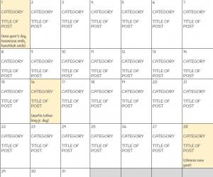 Free Blog Editorial Calendar for 2017