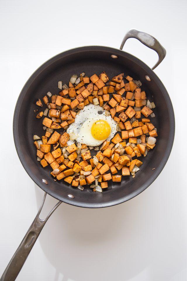 Whole30 Whole 30 Sweet Potato Hash with Fried Egg