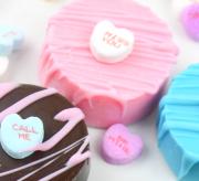 Valentine's Day Conversation Heart Oreo Cookie Dessert Recipe