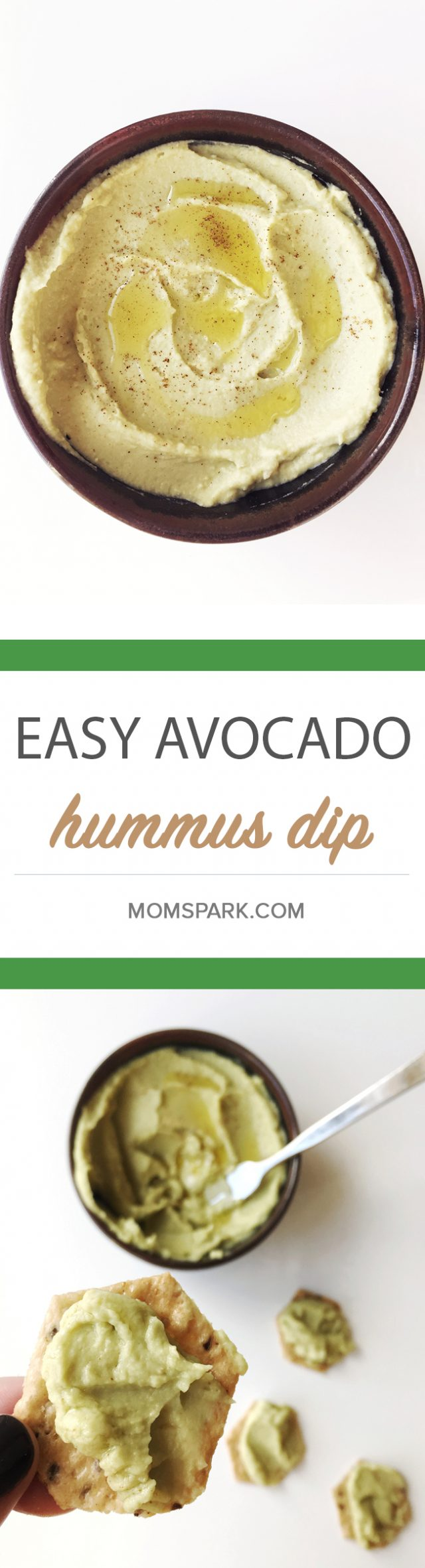Easy Creamy Avocado Hummus Dip Recipe