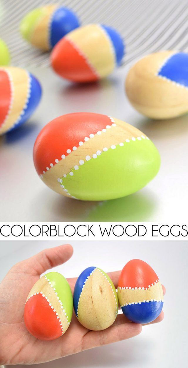 These modern Easter eggs are a great addition to any contemporary home's Easter decor!