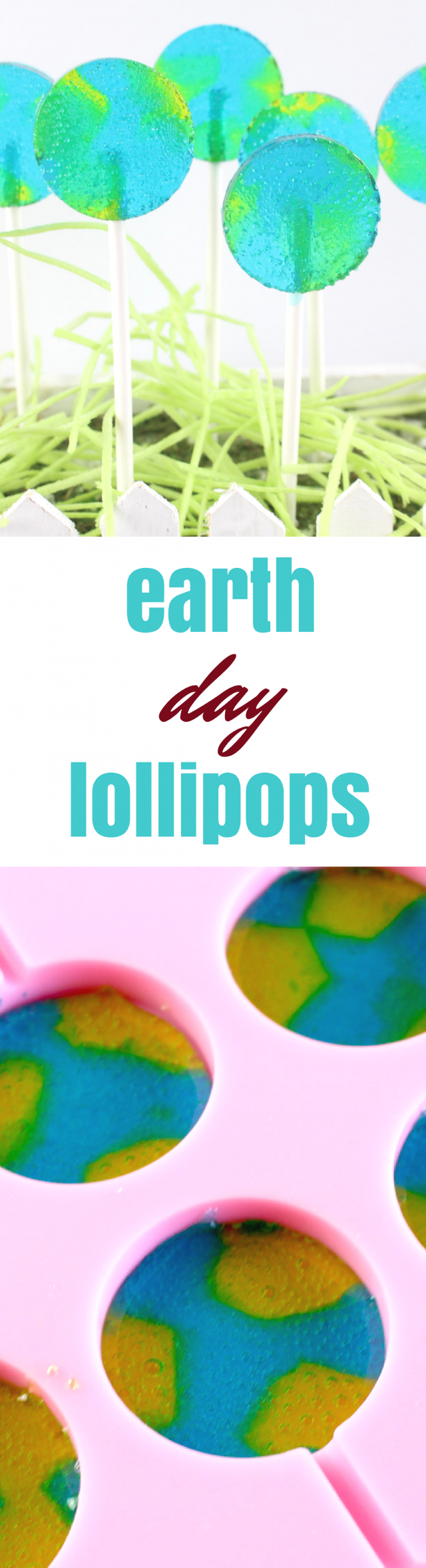Earth Day is coming up soon, so we wanted to put something fun together for this special day. We think your kids will love it, too. Earth Day lollipops! Check out the recipe below.