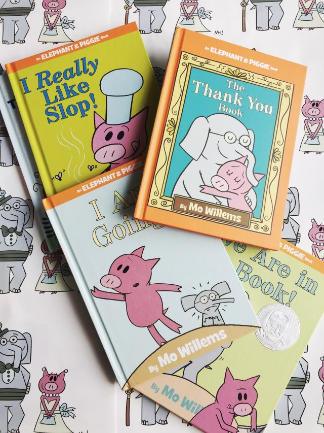 As you probably already know, we LOVE the Elephant & Piggie books at my house. So, of course, we were so excited to partner with Disney-Hyperion on a sponsored post to celebrate 10 years of the series! Ten years of these adorable and relatable friends teaching kids not only how to read, but also how to be a good friend and how to handle difficult emotions. In fact, Disney-Hyperion sent me a party pack and we used it to throw ourselves a little party.