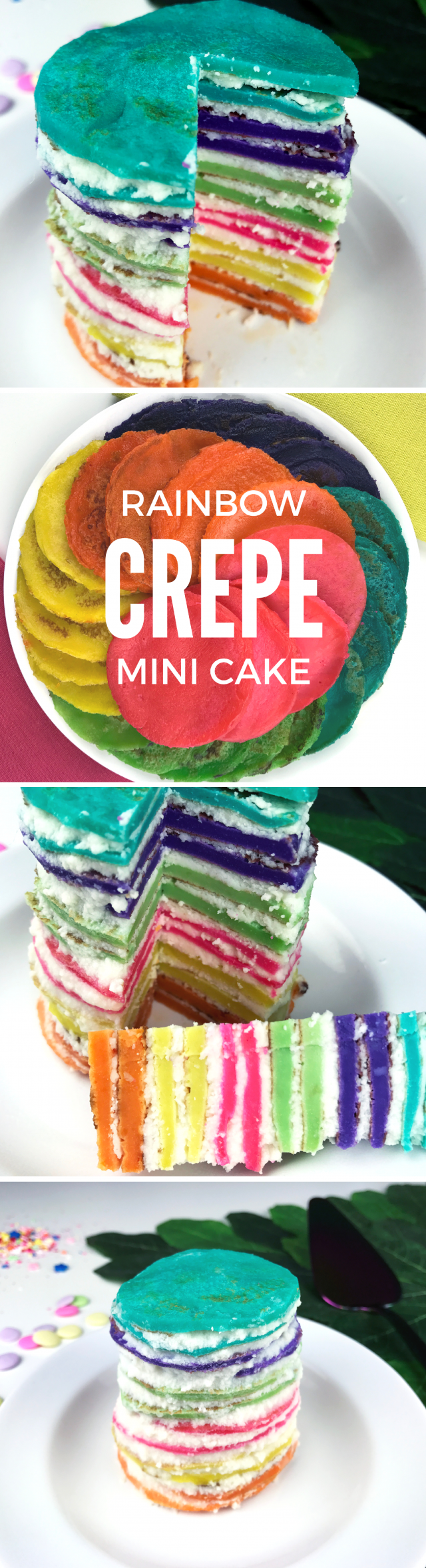 If you've been following Mom Spark for a while, you already know that we have a thing for crepe cakes around here. WE LOVE 'EM! Today's recipe is a fun rainbow crepe cake full of delicious whipped cream.