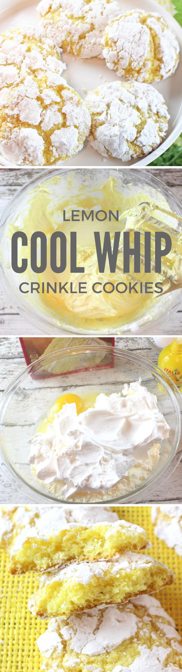 Lemon Crinkle Cool Whip Cookies Recipe