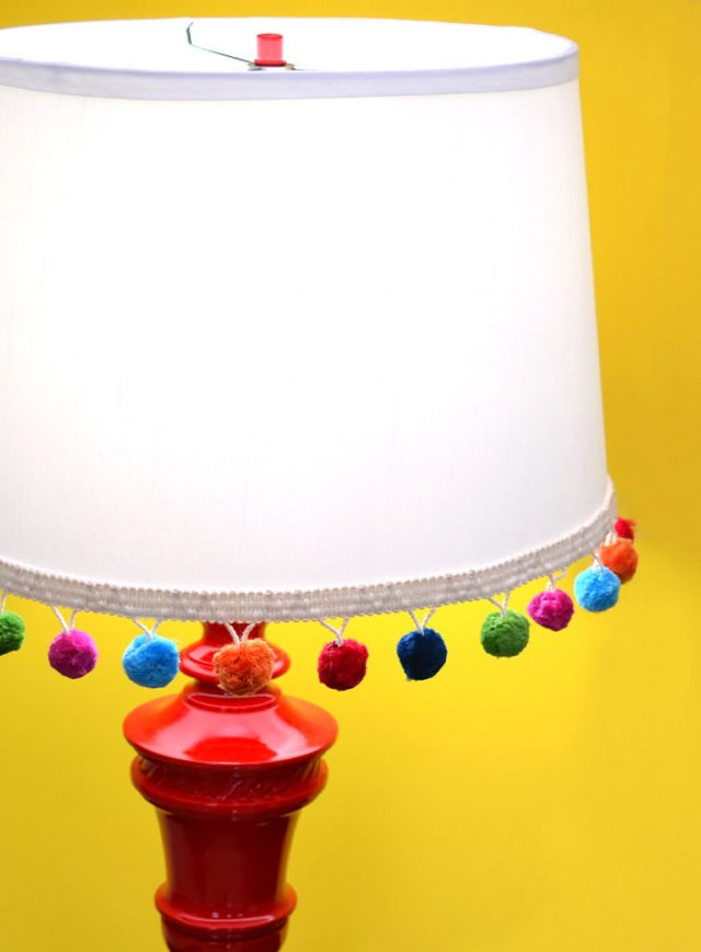 Breathe new life into a thrift store lamp with some personality!