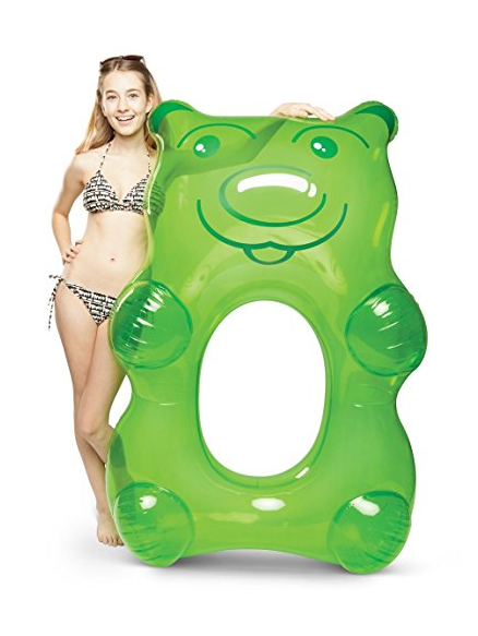 We've already shared a bunch of one-piece swimsuits moms are buying on Amazon right now. Now I'm here to share with you 17 awesome pool floats you need to bring to the pool this summer with thisGummy Bear Pool Float
