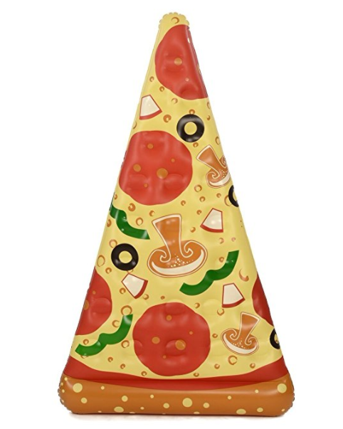 We've already shared a bunch of one-piece swimsuits moms are buying on Amazon right now. Now I'm here to share with you 17 awesome pool floats you need to bring to the pool this summer with this 6-FootPizza Slice Pool Float