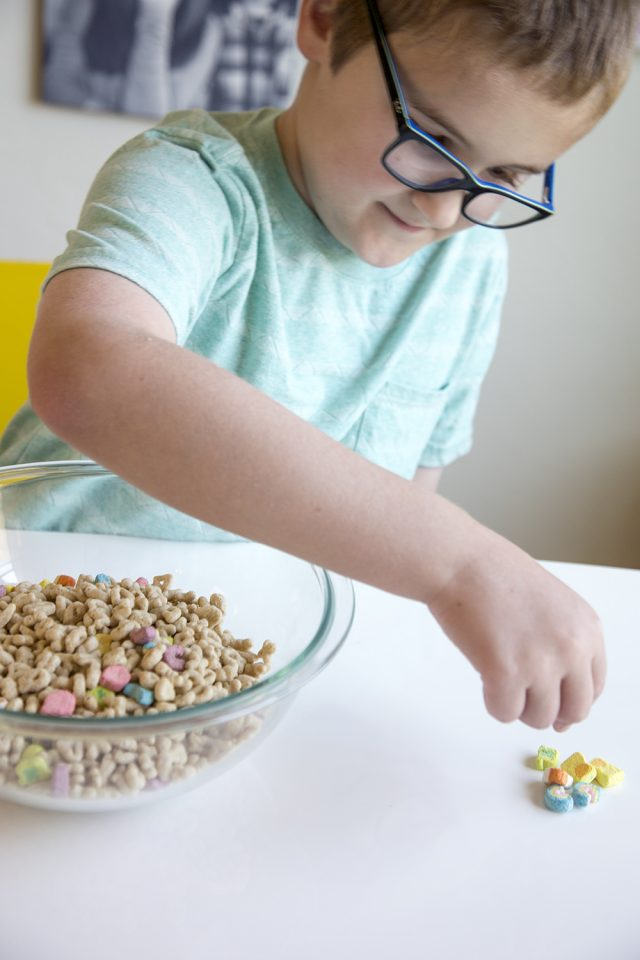 Lucky Charms Yogurt Parfait Recipe - Lucky Charms marshmallows mixed with low-fat yogurt and layered into a beautiful parfait, topped with Lucky Charms cereal and marshmallows! A great snack for both kids and adults!