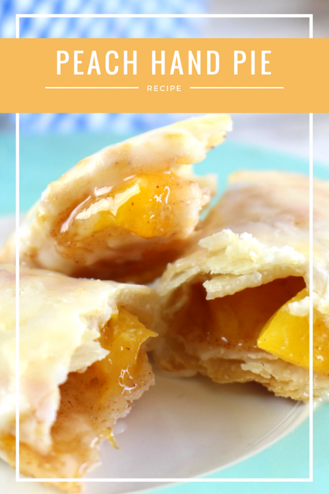 Peach Fruit Hand Pie Recipe - summer fruits in a deliciously sweet iced hand pie. Easy to make and oh so yummy!