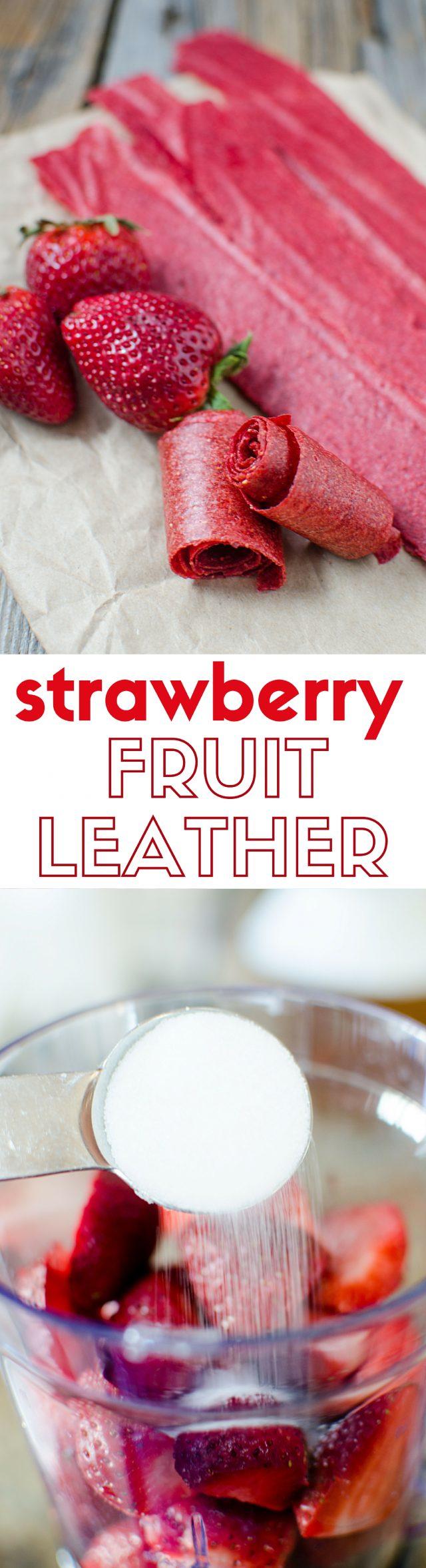 Strawberry Fruit Leather Recipe