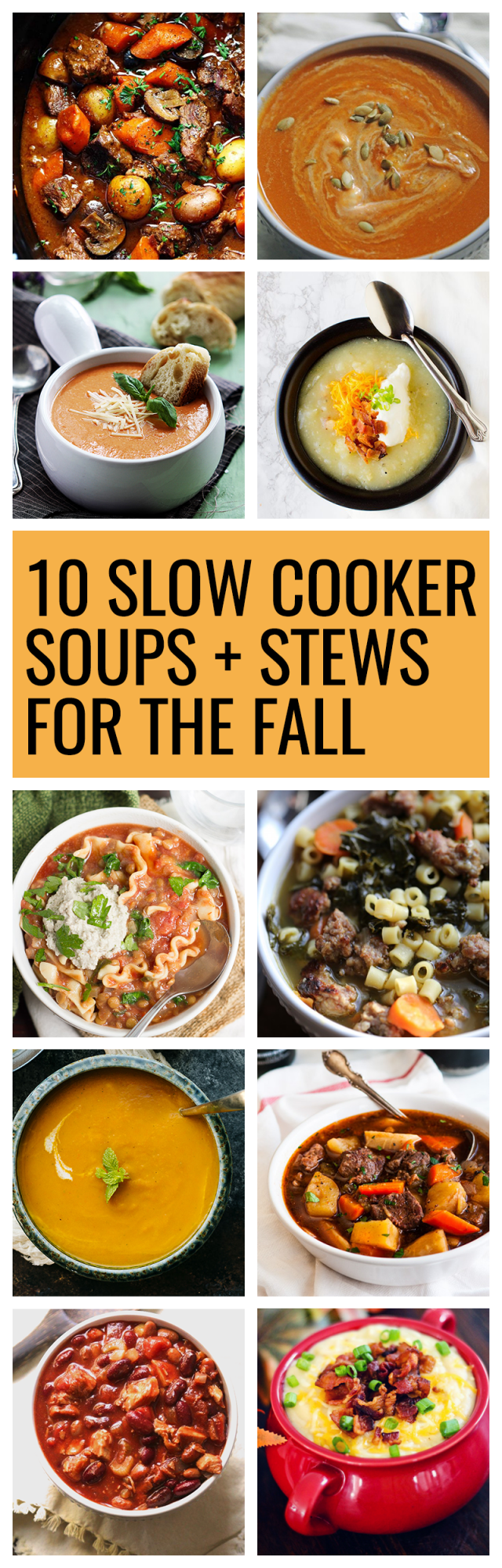 One of my favorite parts about fall is cozying up with a warm bowl of soup or stew. I love to make soups and stews in the Crockpot slow cooker during the fall.