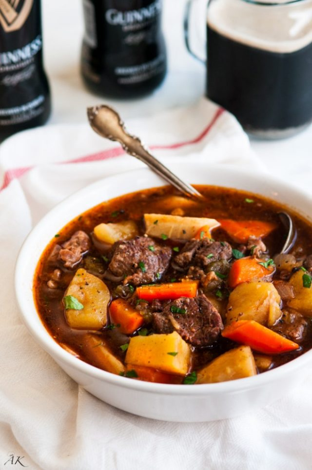 Crockpot Slow Cooker Guinness Beef Stew Recipe