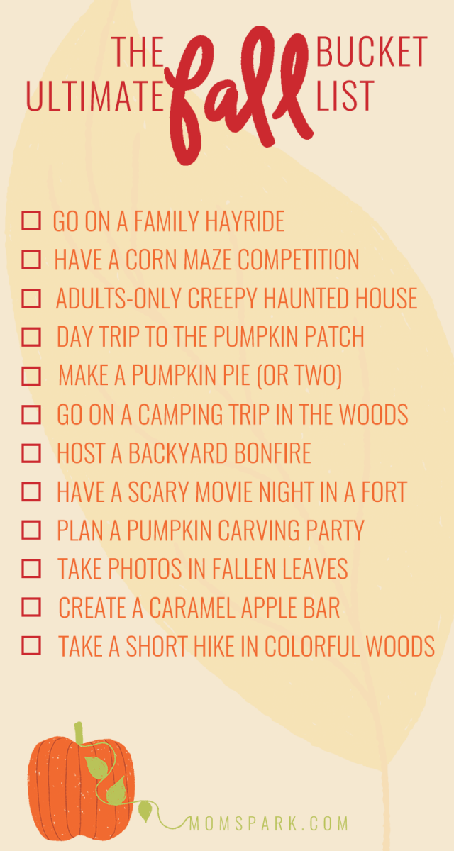 12 Fun Things to Do in the Fall + Printable Fall Bucket List