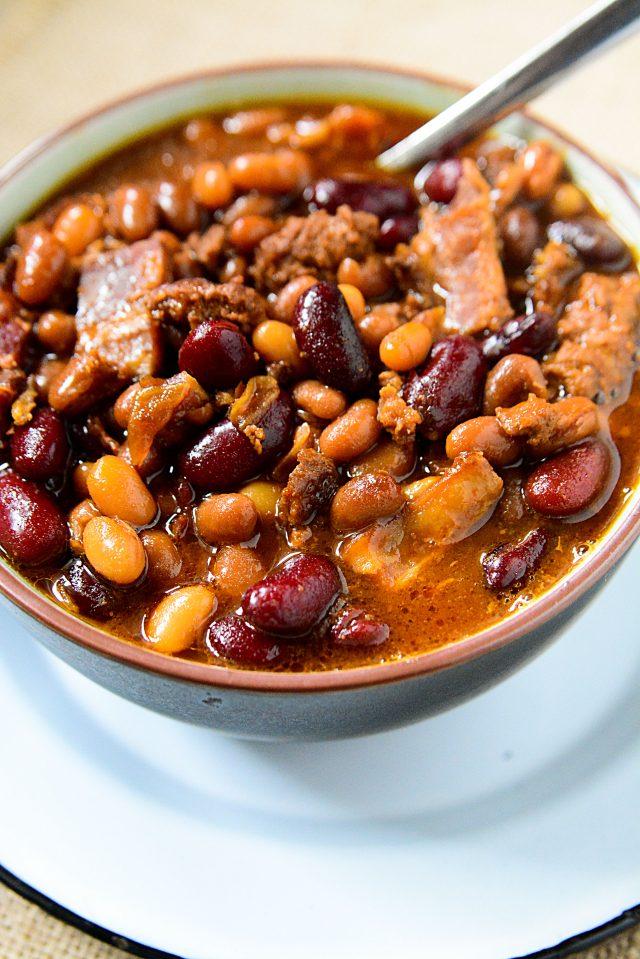 Crockpot Slow Cooker Cowboy Baked Beans Recipe Mom Spark Mom Blogger